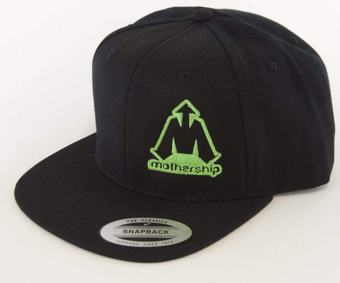 Mothership Wool Snapback Black Rave Green | Products | Snapback