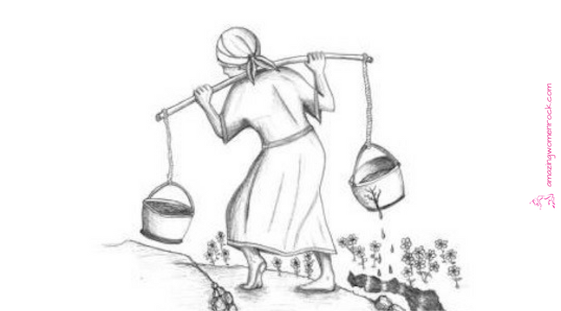 A waterbearer in India had two large pots, one hung on each end of a pole, which she carried across her neck. One of the pots had a crack in it. While the other pot was perfect, and always delivered a full portion of water at the end of the long walk from the stream to the mistress's house, the cracked pot arrived only half full.For a full two years this went on daily, with the bearer delivering only one and a half pots full of water to her master's house.    The ...