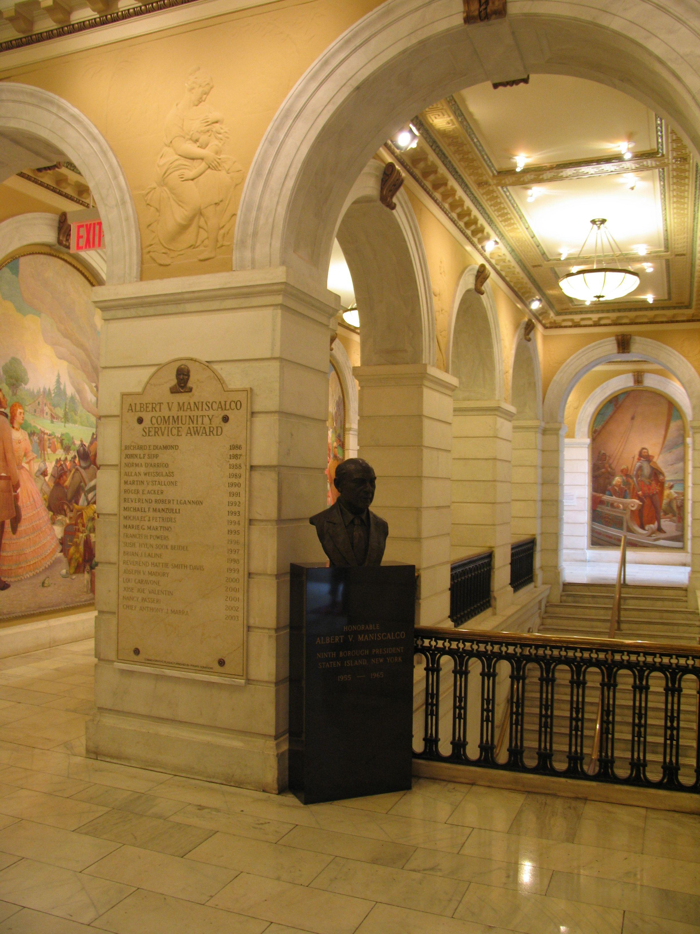 Frederick Charles Stahr Mural - Staten Island City Hall ...