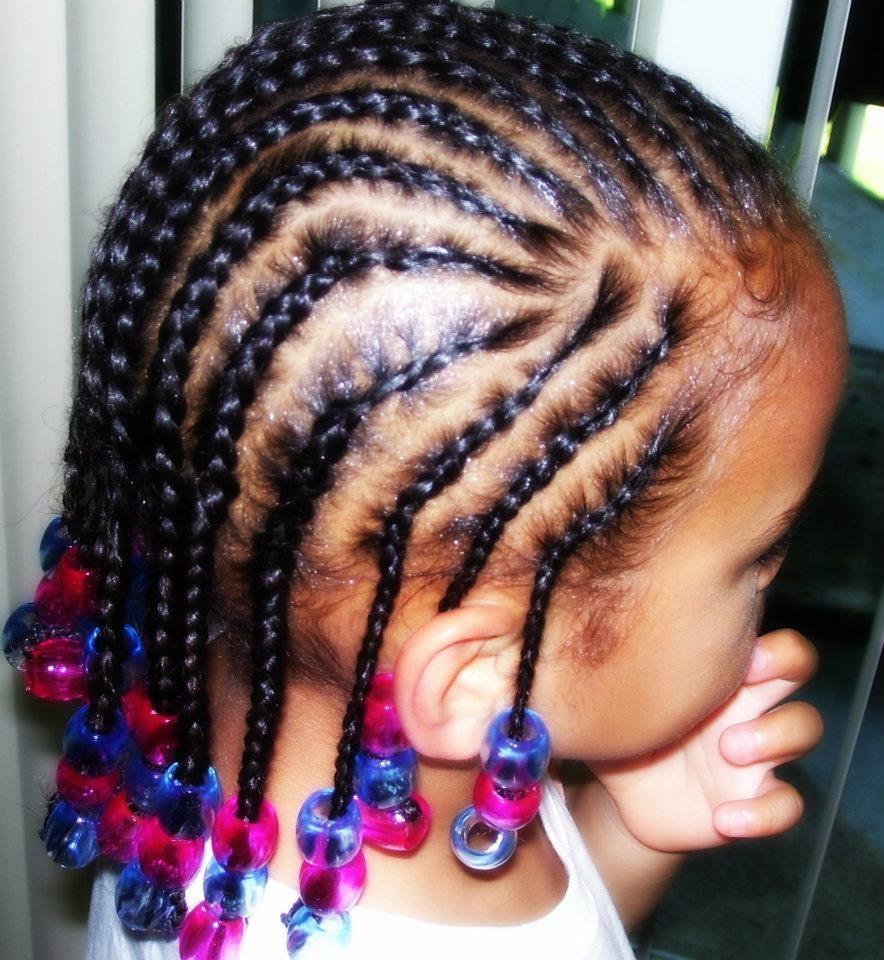 Kids Cornrows With Beads Kids Braided Hairstyles Kids
