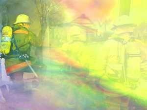 fireman firefighter 05 powerpoint templates multicolor