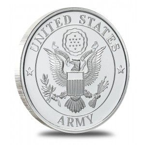 Each Army Silver Bullion Round Contains 1 Troy Ounce Of 999 Fine Silver The Obverse Bears A Resemblance To The Great Seal Silver Bullion Fine Silver Silver