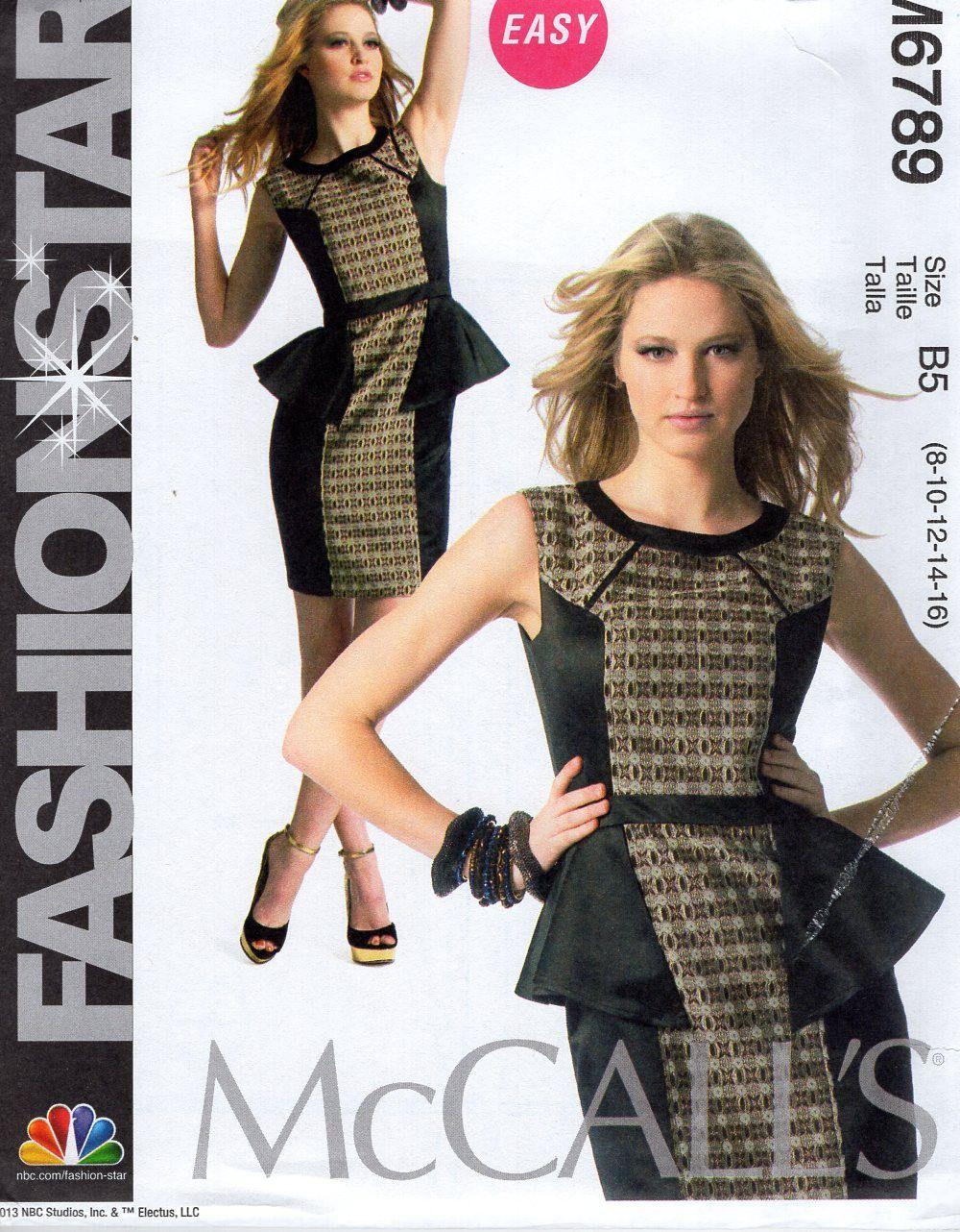 Free us ship mccalls 6789 fashion star bias seam dress sewing free us ship mccalls 6789 fashion star bias seam dress sewing pattern size 816 jeuxipadfo Choice Image