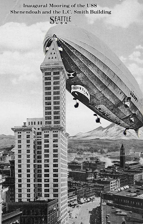 Blimp Empire State Building Poster
