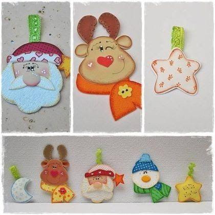 Colgantes navideos hechos con foami o goma eva Dale Detalles