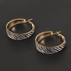 Vintage Golden Cross Grain Shape Hoop Earring(1 Pair) - buy for USD0.99