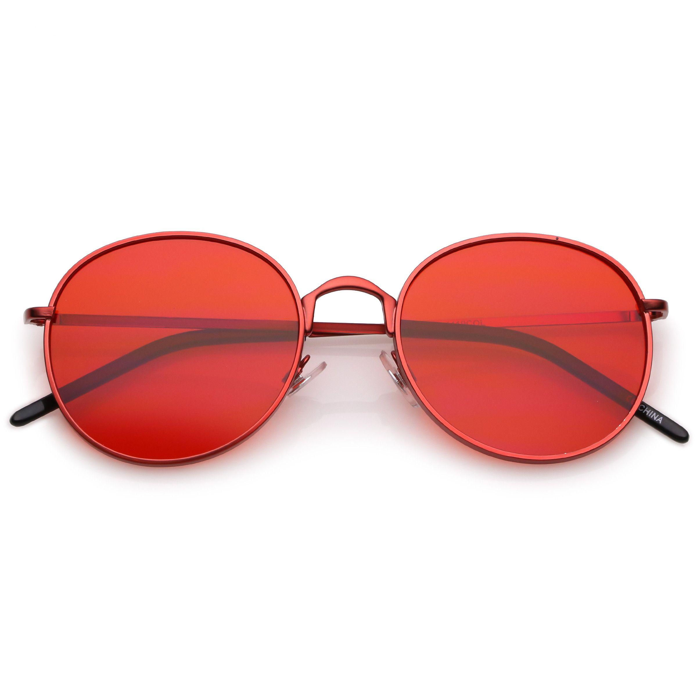 808d1331b3 Retro Fashion Round Color Tone Colors Flat Lens Sunglasses C437 ...