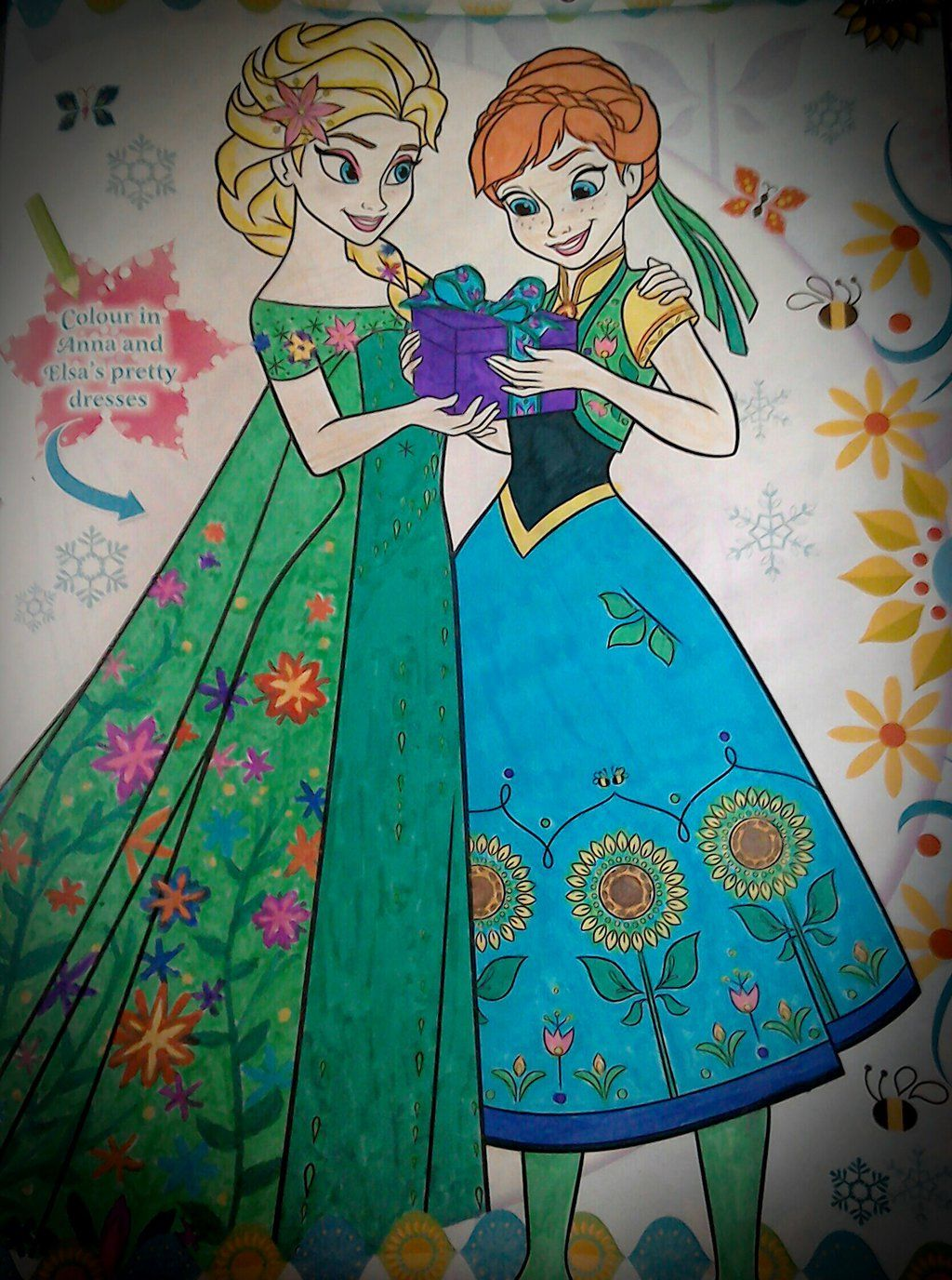 Elsa And Anna Frozen Fever Colouring Page Frozen Fever Frozen Anna Frozen