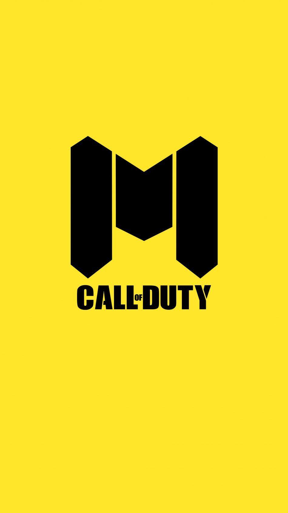 Call Of Duty Mobile Logo Yellow Background 4k Ultra Hd Mobile Wallpaper Call Of Duty Mobile Logo Logo Yellow