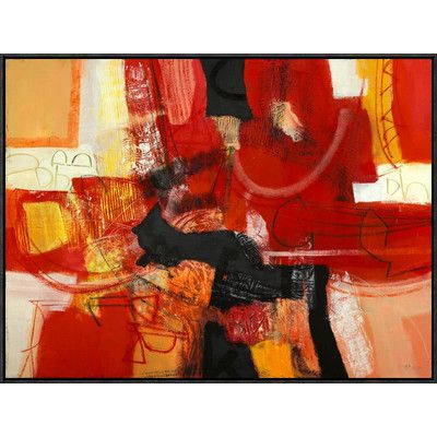 Global Gallery 'Davanti al Fuoco' by Maurizio Piovan Framed Painting Print on Canvas Size: