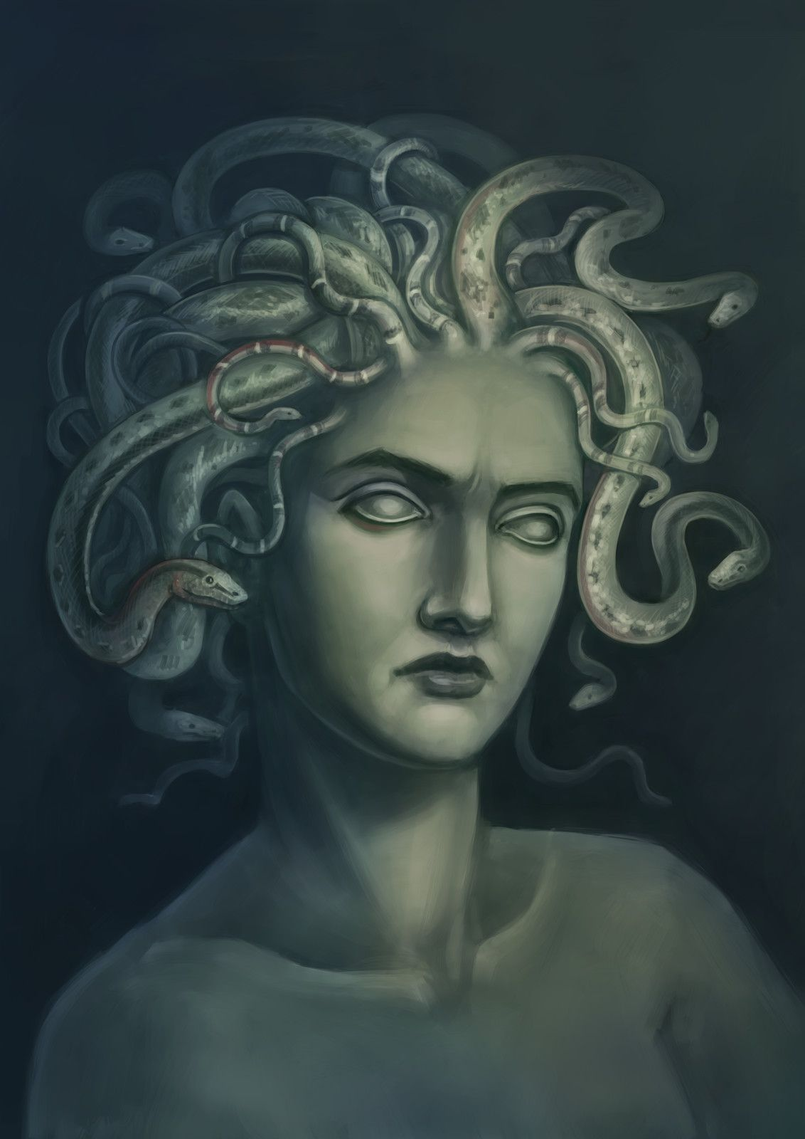 Открытка с медузой горгоной, шкода красивые картинки