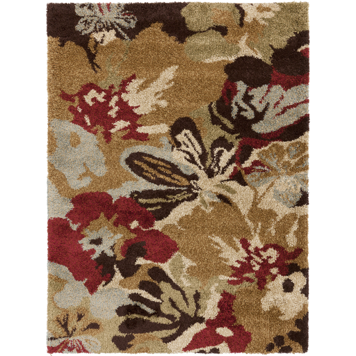 Alfredo Area Rug | Gold Shag Rugs Machine Made | Style AFR3333