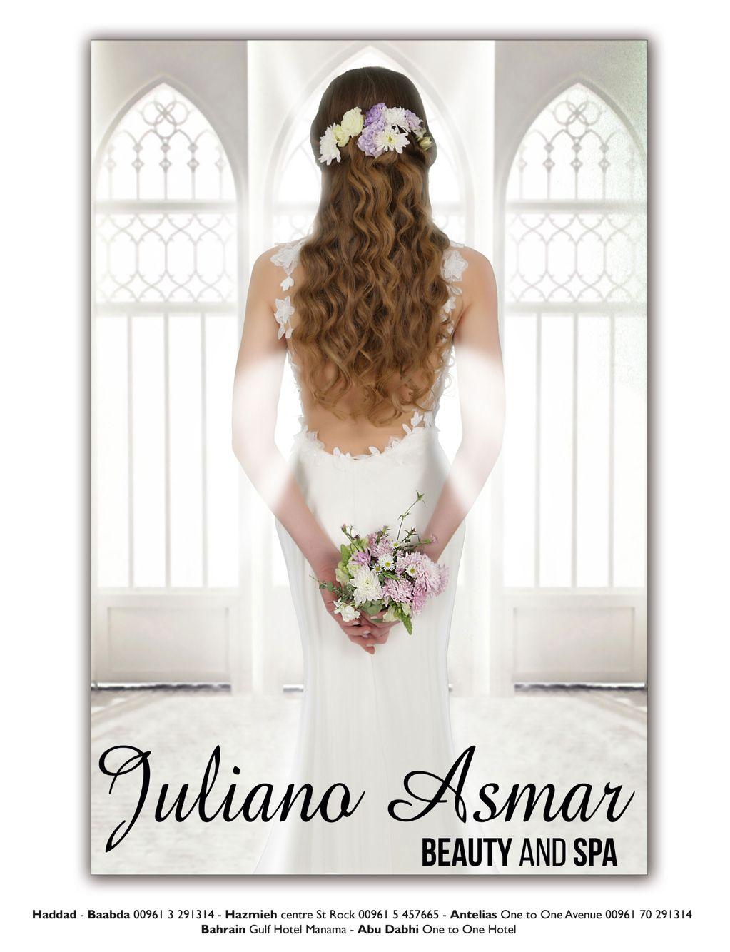 Natural wavy half up half down wedding hairstyle Juliano Asmar ...