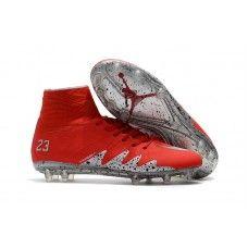 separation shoes f99c4 91173 Botas De Futbol Nike Hypervenom Phantom II FG Neymar X Jordan Rojo Plateado  Tienda
