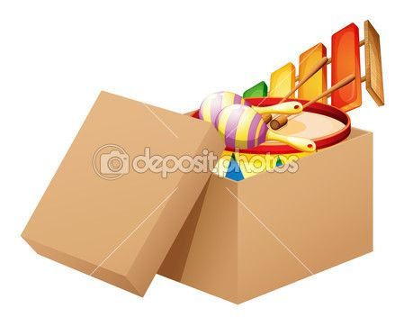 Un dibujo animado lleno de juguetes — Vector de stock © interactimages #23774219
