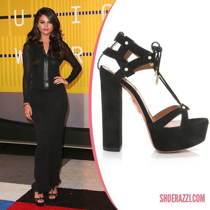Selena Gomez in Aquazzura Pre Fall 2015 'Bel Air' Black