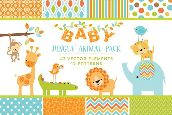 Baby jungle animal pack creative patterns and cards baby jungle animal pack stopboris Images