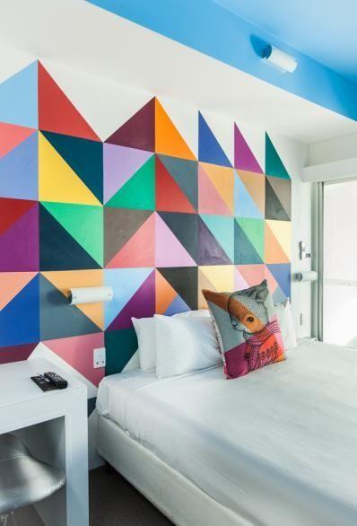 Paredes geom tricas paredes decoradas - Diseno de paredes pintadas ...