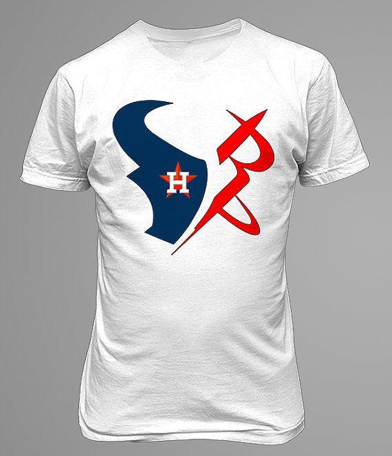 hot sale online a5185 80c76 Houston Texans Rockets Astros T- Shirt. JJ Watt James Harden ...
