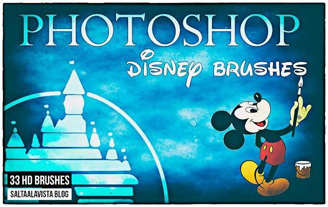 33 Pinceles Para Photoshop De Personajes Disney Graphic Design