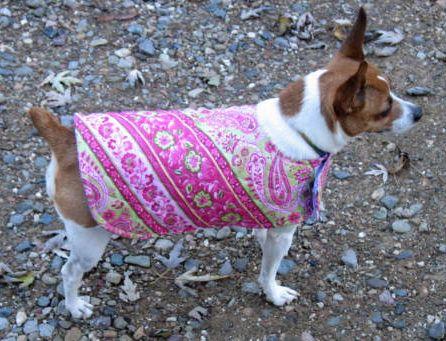 Crazy Creek Quilts have this fantastic little dog coat pattern ...