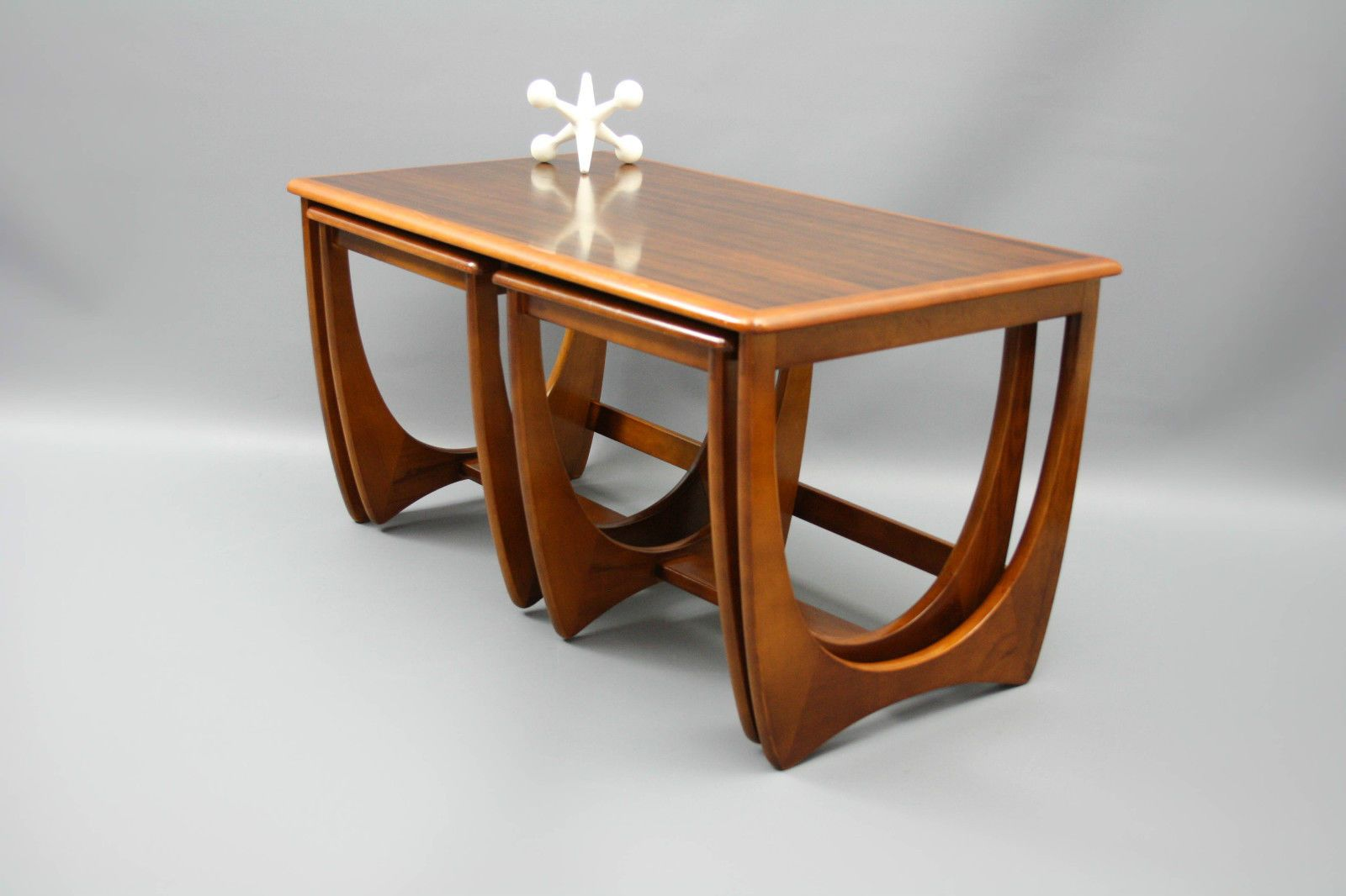 Mid Century Nest Of 3 Coffee Tables Kalmar Sleigh Legs Retro Vintage Danish G Plan Style Vic Mid Century Coffee Table Mid Century Furniture Modern Furniture [ 1066 x 1600 Pixel ]