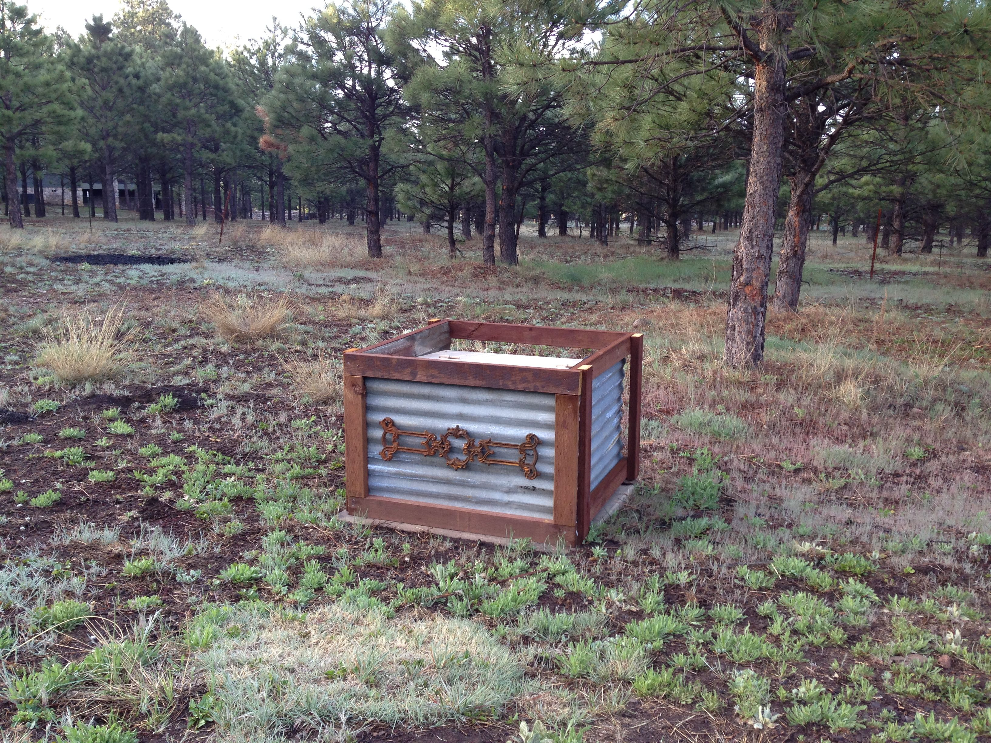 Utility box cover done pretty spaces pinterest for Landscape rock utility cover