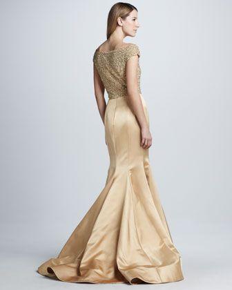 87daa9b0 Naeem Khan Beaded Cap-Sleeve Mermaid Gown - Bergdorf Goodman | Gowns ...