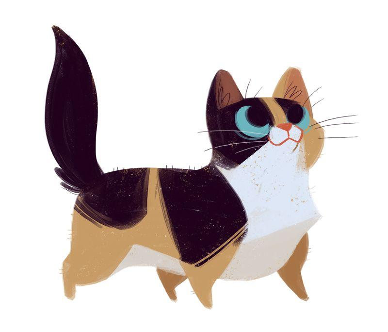 Daily Cat Drawings — 445: Munchkin Cat                                                                                                                                                                                 More
