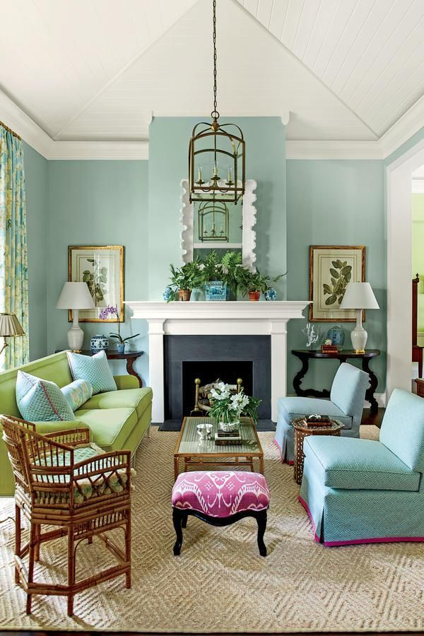 Charming 1 Pull Out A Bold Accent Color   8 Fresh Decorating Resolutions   Southern  Living Nice Look