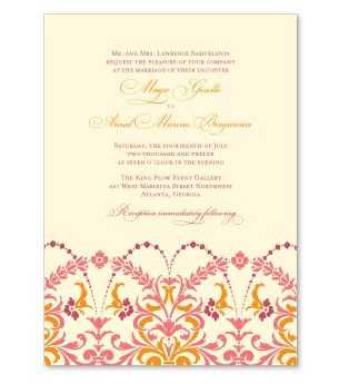 Joy Wedding Invitation  Garden Wedding Invitation  Random Stuff