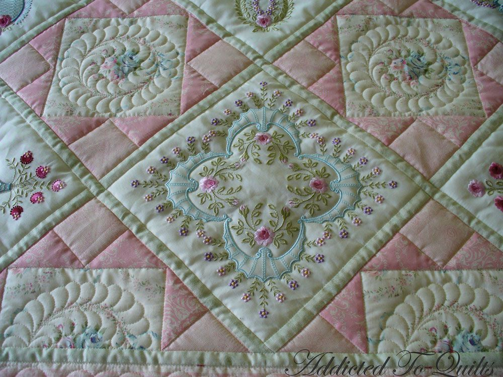 Embroidered Quilts Addicted To Quilts Two Pretty