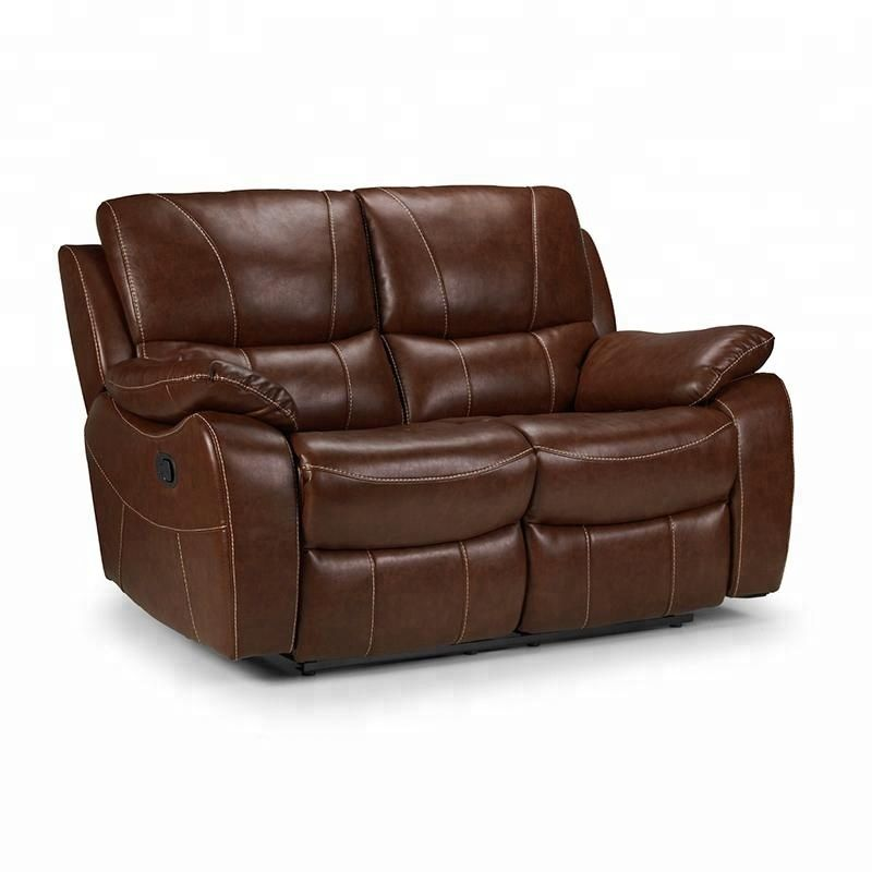 Luxury Brown Two Seater Leather Sofa For Living Room Reclining Sofa Sofa Two Seater Leather Sofa