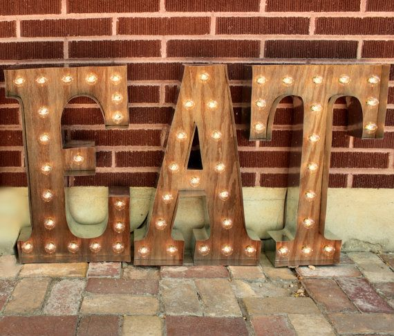 eat or any 3 letters custom marquee sign light marquee light up letters yes