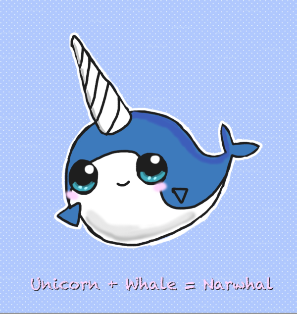 Rainbow Animated Narwhals narwhal cartoon | narw...