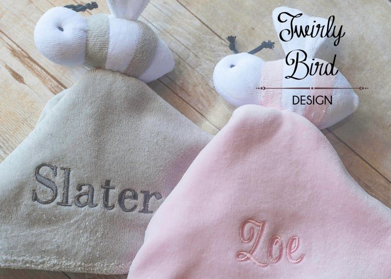Security Blanket for Baby - Personalized Baby Lovey - Baby Shower Gift - Minky Baby Lovey - Baby Security Blanket #securityblankets