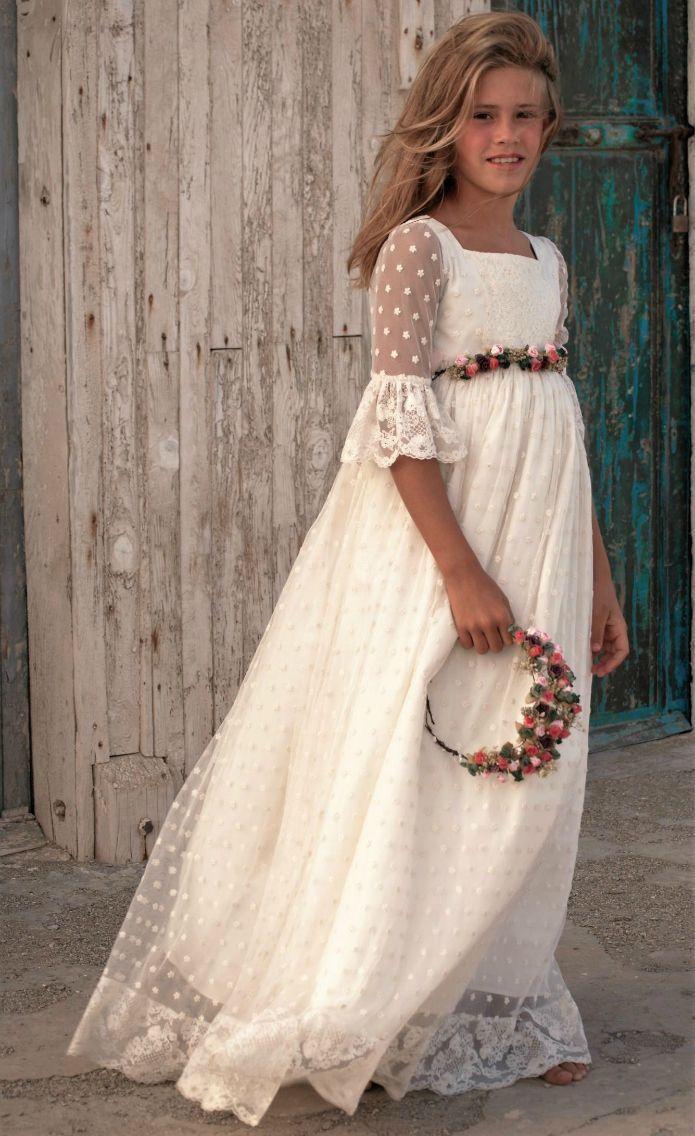 Vestidos primera comunion romanticos