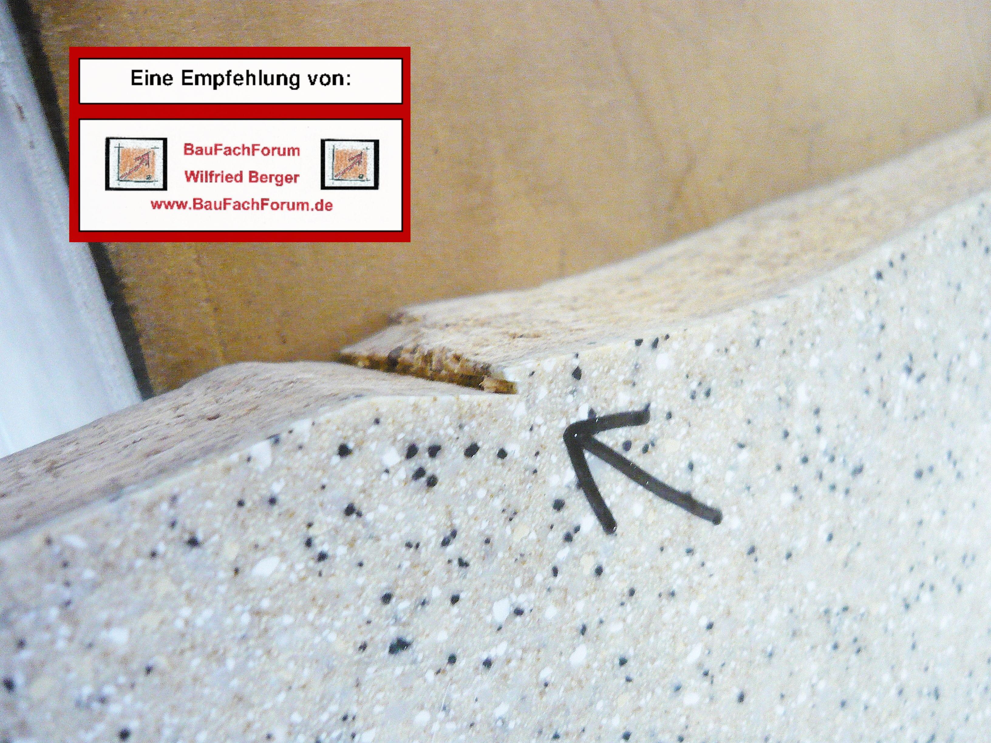 Baufachforum Schaden Sachverstandiger Wilfried Berger Mogliche Schaden Mineralsteinplatten Mineralwerkstoffe G Fensterbauer Fenster Einbauen Fenstereinbau