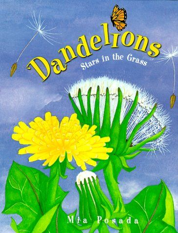 Have you ever wanted to float on the soft, downy tufts of a dandelion blowing in the wind? In Dandelions, Mia Posada brings to life the beauty of the flower better known as a weed and a nuisance. This book invites readers to discover and watch the life cycles of dandelions with lush and softly colored illustrations and with a clear and simple text.