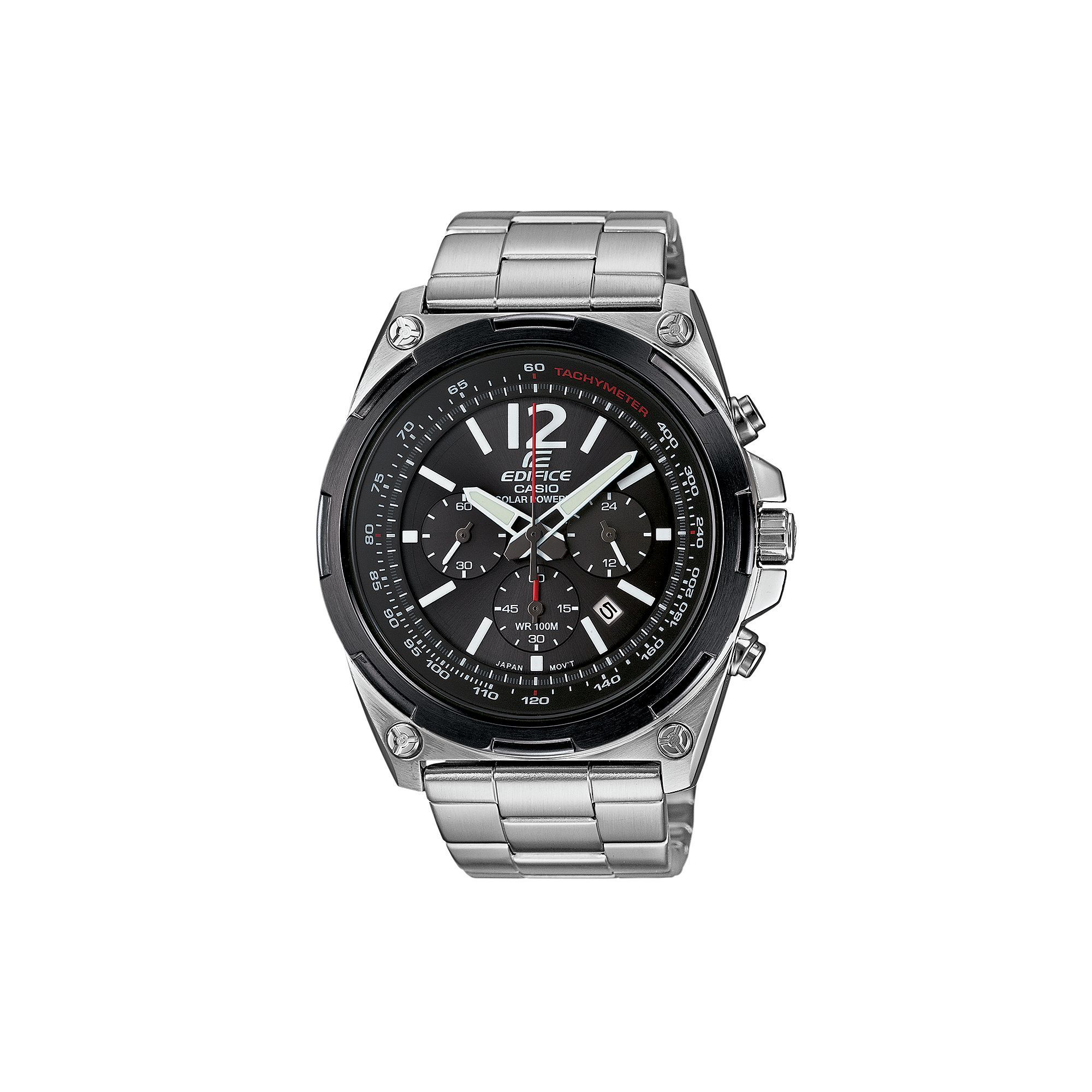 Casio Men's Edifice Stainless Steel Solar Chronograph Watch - EFR545SBDB-1BVCF, Grey