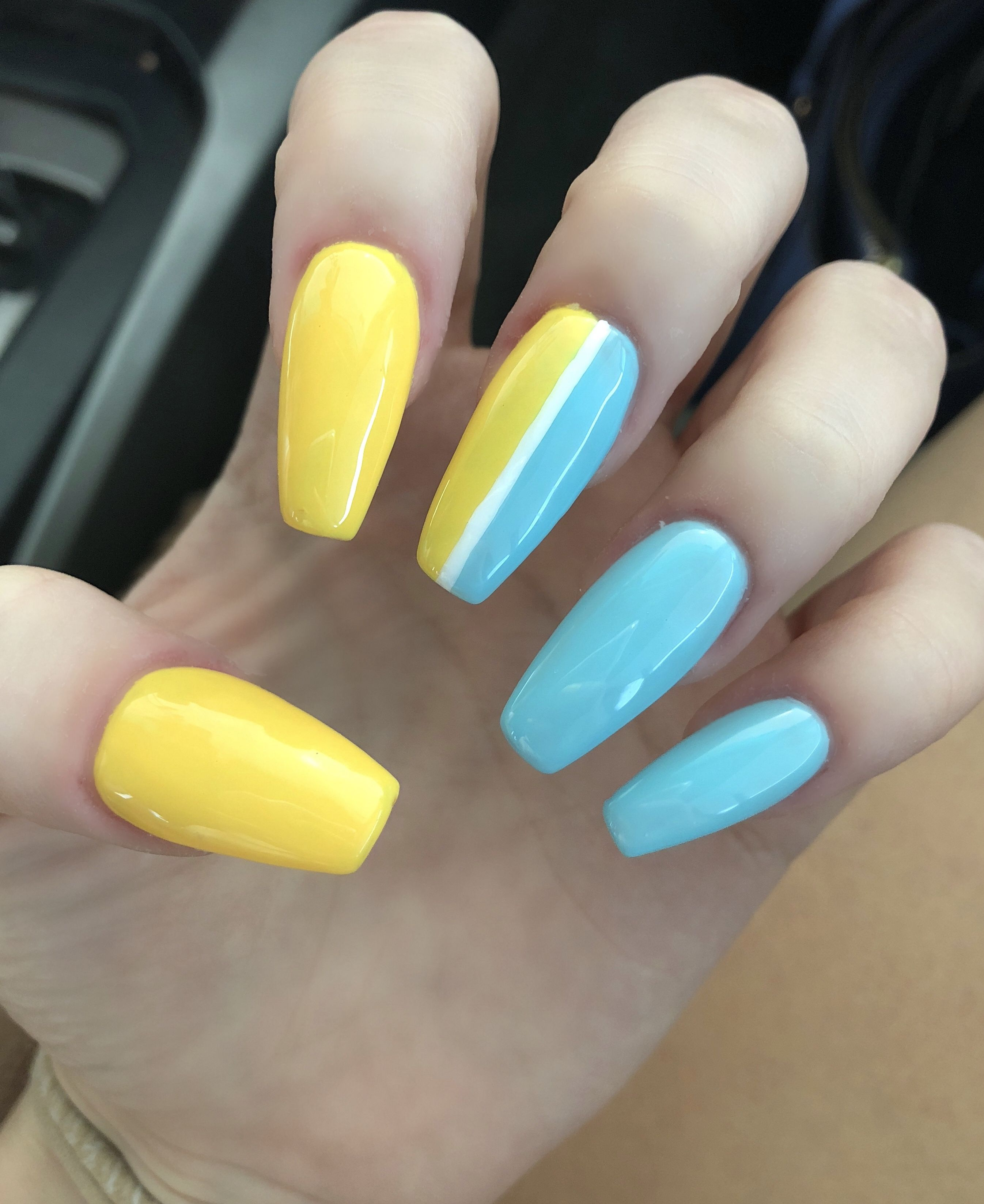 Coffin Acrylic Nails Nails Acrylic Nails Coffin Yellow Nails Find and save images from the coffin nails collection by unica (flowerchildre) on we heart it, your everyday app to get lost in what you love. nails acrylic nails coffin