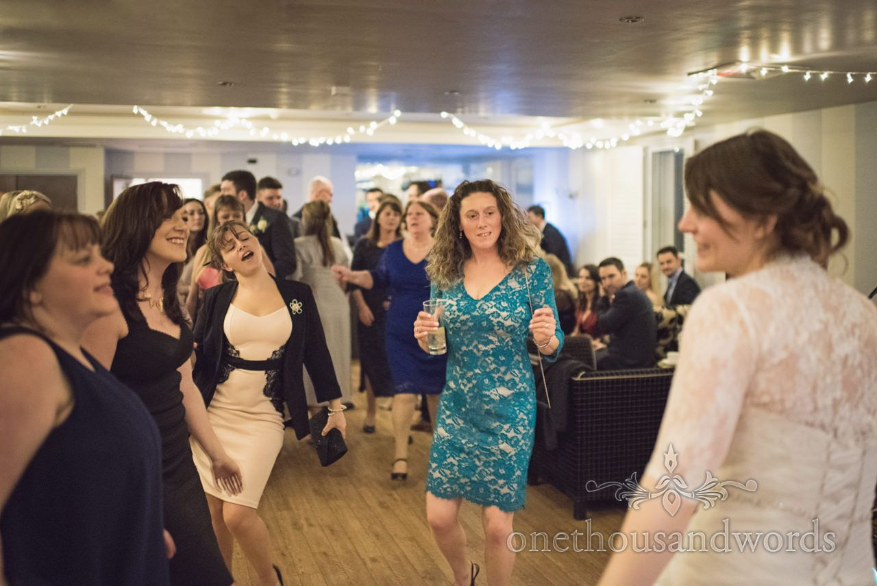 Wedding Guests Dancing At Kings Arms Christchurch Photography By One Thousand Words Photographers