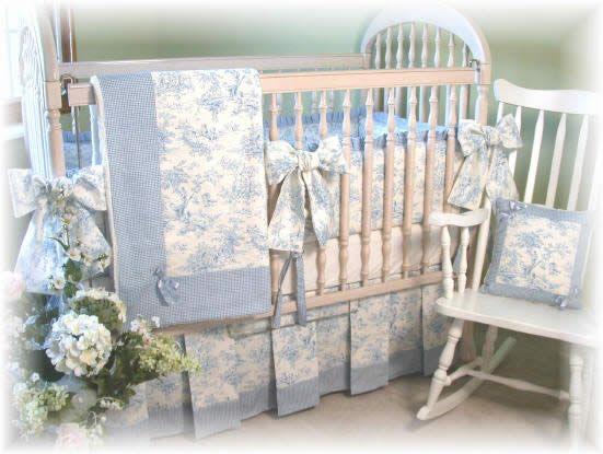 Blue Toile Central Park Nursery Beddingbaby
