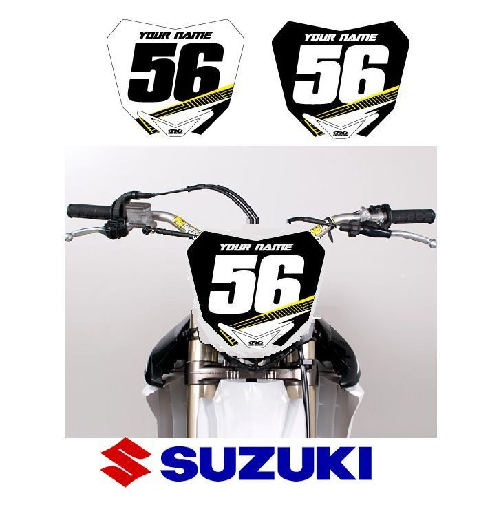 Fx Apex Custom Mx Number Plate For Suzuki Motocross W Your Name