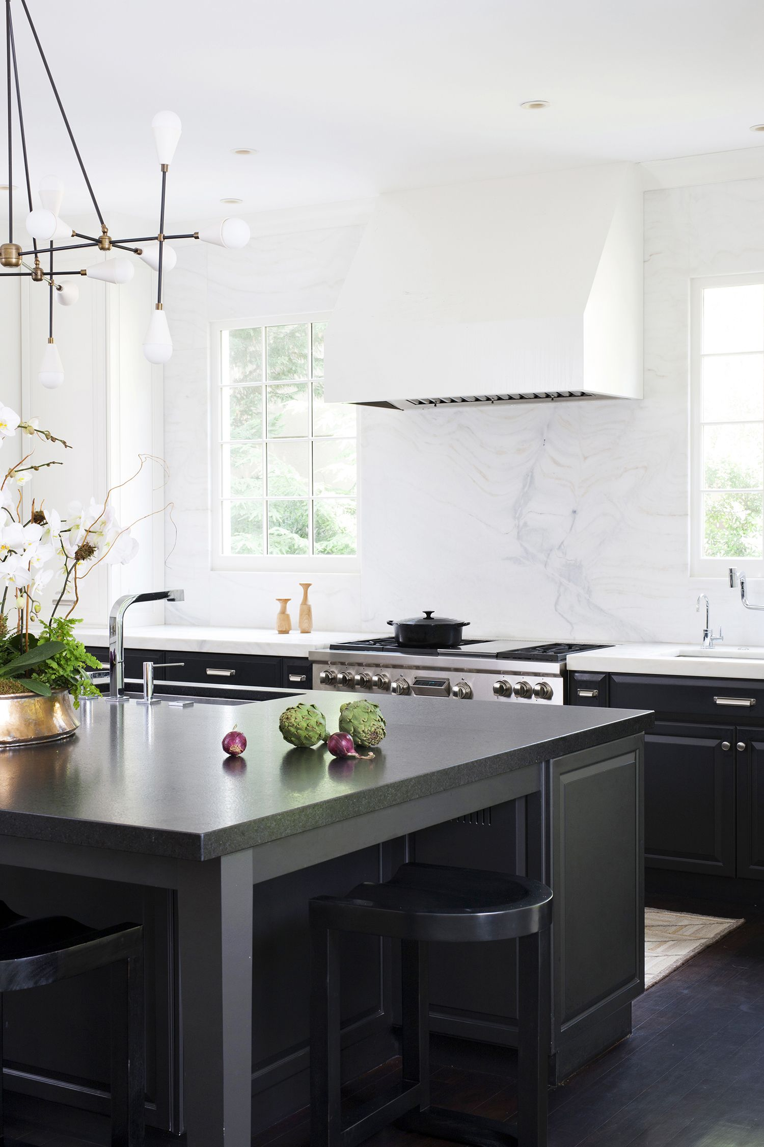 Kitchen Designers In Maryland Enchanting Black And White Modern Colonial House Remodel Bethesda Maryland Design Inspiration