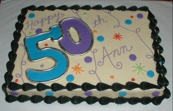 Birthday Cake Ideas For Women Happy 50th