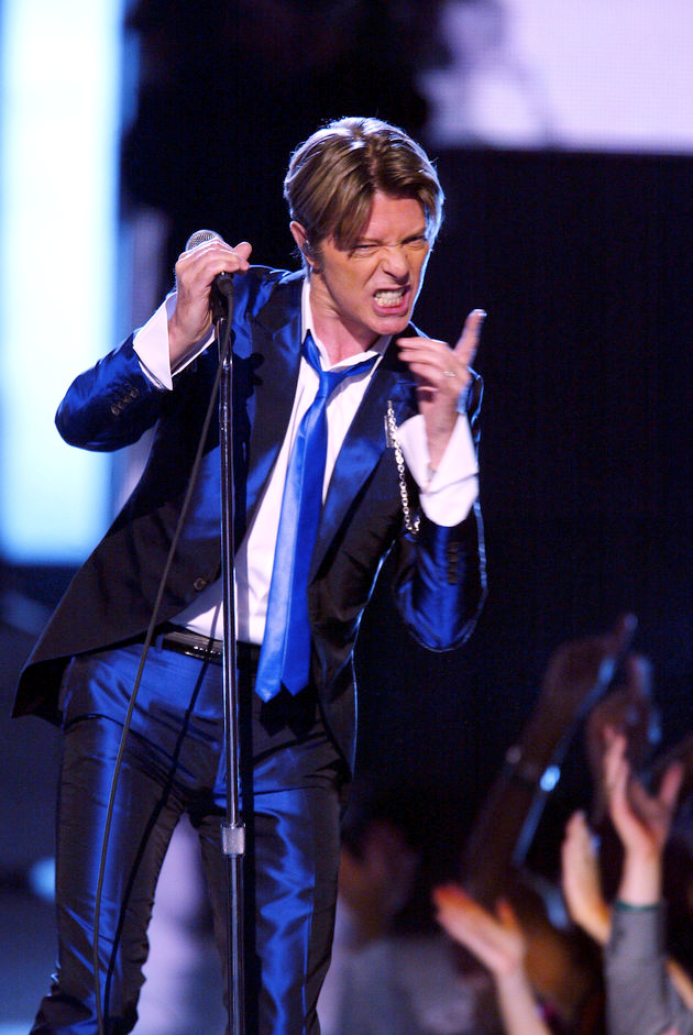 David Bowie onstage performing at the 2002 VH1 Vogue Fashion Awards at Radio City Music Hall in New York City, October 15th,