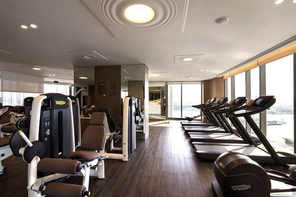 Fitness Center Designs Gym And Health Club Al Bandar Rotana Dubai Love That Design Apartment Complexes Home Comforts Hotel Apartment