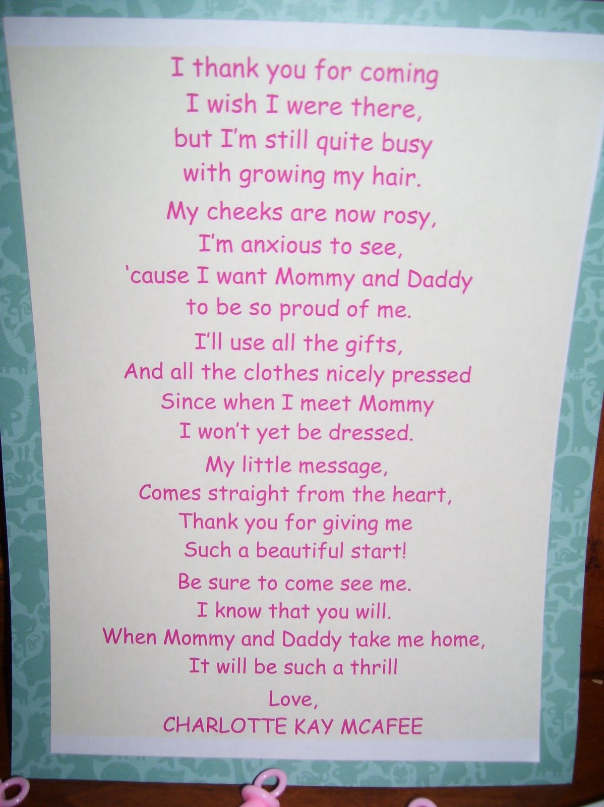 after posting this baby shower cupcake poem we can guarantee to