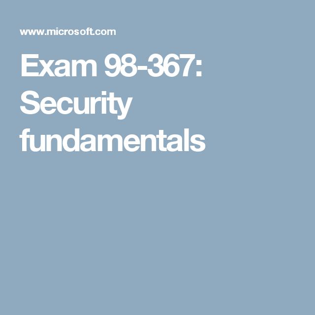 98 367 SECURITY FUNDAMENTALS EBOOK DOWNLOAD